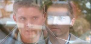 Jensen Ackles as Dean Winchester & Misha Collins as the Angel Castiel