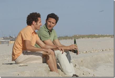 pondering on the beach