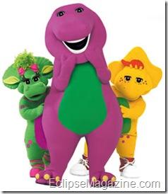 Demi Lovato and Barney