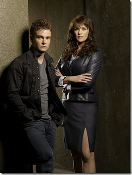 SANCTUARY -- Pictured: (l-r) Robin Dunne as Dr. Will Zimmerman, Amanda Tapping Dr. Helen Magnus -- Syfy Photo: Pete Tangen