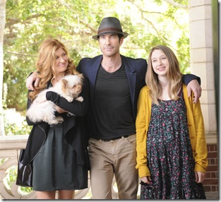 AMERICAN HORROR STORY: L-R: Connie Britton as Vivien Harmon, Dylan McDermott as Ben Harmon, Taissa Farmiga as Violet Harmon in AMERICAN HORROR STORY airing on FX. CR: Robert Zuckerman.