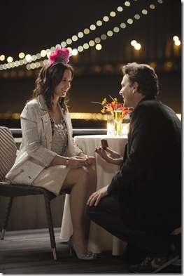 """Violet (EMILY BLUNT) and Tom (JASON SEGEL) keep getting tripped up on the long walk down the aisle in """"The Five-Year Engagement"""", the new irreverent comedy that reteams the director and writer/star of """"Forgetting Sarah Marshall""""."""