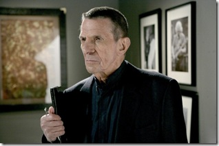FRINGE: Leonard Nimoy guest-stars as William Bell, owner and founder of Massive Dynamics, in the FRINGE season finale episode &quot;There's More Than One of Everything&quot; airing Tuesday, May 12 (9:01-10:00 PM ET/PT) on FOX. 2009 Fox Broadcasting Co. CR: Craig Blankenhorn/FOX
