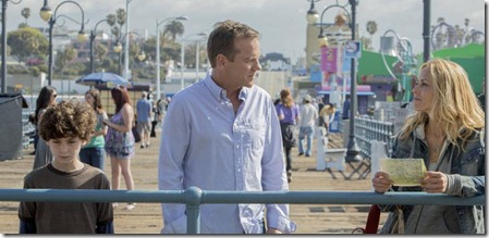 """TOUCH:  Martin (Kiefer Sutherland, C) and Jake (David Mazouz, L) meet Lucy (guest star Maria Bello, R) in the two-hour """"Gyre, Pt. 1 and Pt. 2"""" season finale episode of TOUCH airing Thursday, May 31 (8:00-10:00 PM ET/PT) on FOX. ©2012 Fox Broadcasting Co.  Cr:  Isabella Vosmikova/FOX"""