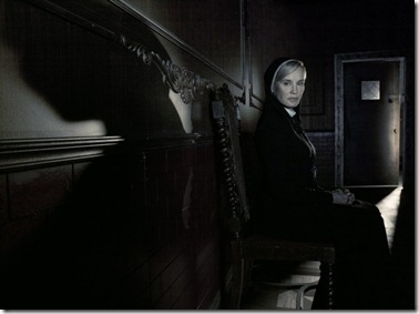AMERICAN HORROR STORY: ASYLUM -- Pictured: Jessica Lange as Sister Jude -- CR: Frank Ockenfels/FX
