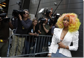 AMERICAN IDOL: SEASON 12: Judge Nicki Minaj arrives at the New York auditions of AMERICAN IDOL Sunday, Sept, 16. CR: Craig Blankenhorne / FOX.