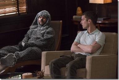 WILFRED: Episode 8: Perspective (Airs Thursday, August 1, 10:00 pm e/p). Pictured: (L-R) Jason Gann as Wilfred, Elijah Wood as Ryan Newman. CR: Prashant Gupta/FX