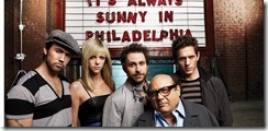 IT'S ALWAYS SUNNY IN PHILADELPHIA: L-R: Rob McElhenney as Mac, Kaitlin Olson as Sweet Dee, Charlie Day as Charlie, Danny DeVito as Frank and Glenn Howerton as Dennis. CR: FX