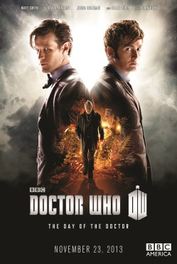 Picture shows Matt Smith as the Eleventh Doctor and David Tennant as the Tenth Doctor, joined by John Hurt in the 50th Anniversary Special - The Day of the Doctor
