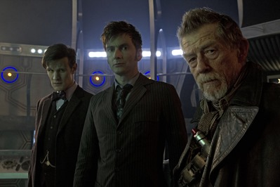 Picture shows MATT SMITH as the Eleventh Doctor, DAVID TENNANT as the Tenth Doctor, and JOHN HURT and in the 50th Anniversary Special - The Day of the Doctor
