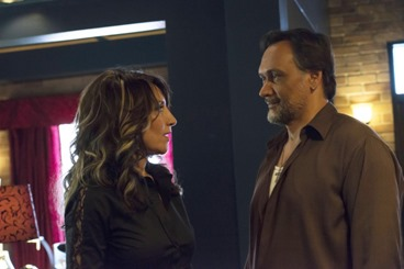 SONS OF ANARCHY The Mad King -- Episode 605 -- Airs Tuesday, October 8, 10:00 pm e/p) -- Pictured: (L-R) Katey Sagal as Gemma Teller, Jimmy Smits as Nero Padilla -- CR: Prashant Gupta/FX
