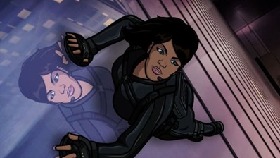 ARCHER: Episode 9, Season 4 The Honeymooners (airing March 14, 10:00 pm e/p). Archer and Lana pose as newlyweds to  stop a sale of enriched uranium. Pictured: Lana Kane (voice of Aisha Tyler). FX Network