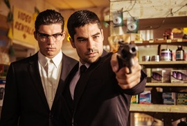 """D.J. Cotrona as Seth Gecko Zane Holtz as Richie Gecko From the El Rey Network Original """"From Dusk Till Dawn: The Series"""""""