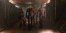 Marvel's Guardians Of The Galaxy</p> <p>L to R: Gamora (Zoe Saldana), Rocket Racoon (voiced by Bradley Cooper), Peter Quill/Star-Lord (Chris Pratt), Groot (voiced by Vin Diesel) and Drax the Destroyer (Dave Bautista)</p> <p>Ph: Film Frame</p> <p>©Marvel 2014