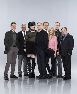 The cast of NCIS. Pictured from left to right: Brian Dietzen, Rocky Carroll, Pauley Perrette, Mark Harmon, Michael Weatherly, Emily Wickersham, Sean Murray and David McCallum. NCIS airs  Tuesdays (8:00-9:00 PM, ET/PT) on the CBS Television Network.  Photo: Kevin Lynch/CBS  �©2014 CBS Broadcasting Inc. All Rights Reserved