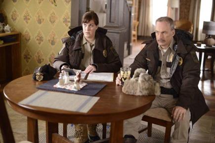 FARGO - Pictured: (L-R) Allison Tolman as Molly Solverson, Bob Odenkirk as Bill Oswalt. CR: Chris Large/FX