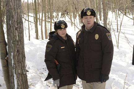 FARGO - Pictured: (L-R) Allison Tolman as Molly Solverson, Shawn Doyle as Vern Thurman. CR: Chris Large/FX