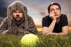 WILFRED: Key Art. L-R: Jason Gann as Wilfred and Elijah Wood as Ryan. CR: FX.