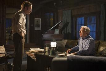 Bob Odenkirk as Saul Goodman, Michael McKean as Chuck - Better Call Saul _ Season 1, Episode 1 - Photo Credit: Ursula Coyote/AMC