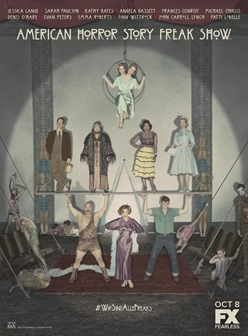 AMERICAN HORROR STORY: FREAK SHOW -- Pictured: Cast Art. CR: FX
