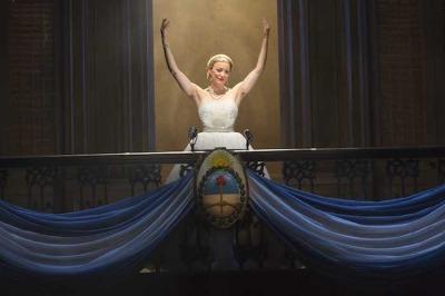 Evita 1small - Caroline Bowman as 'Eva Peron' in the National Tour of EVITA. Photo Credit Richard Termine