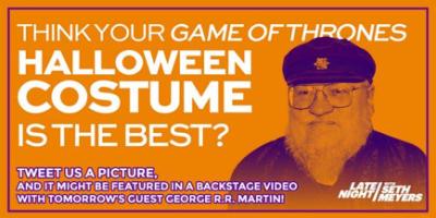 Late Night Seth Meyers GOT costume contest 10-28-14
