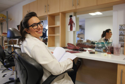 Picture shows: Ingrid Oliver as Osgood. Doctor Who UNIT scientist Osgood, played by Ingrid Oliver, is back for series nine. ***Embargoed for publication until 13:00 BST Friday 8 May 2015***