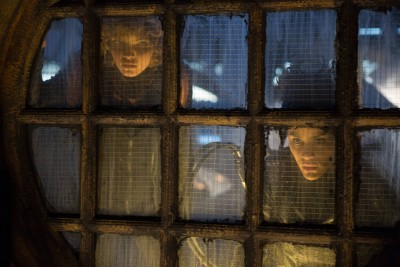 GOTHAM: L-R: Camren Bicondova and guest stat Bridget Pike (Firefly) in the ÒRise of the Villains: By FireÓ episode of GOTHAM airing Monday, Oct. 26 (8:00-9:00 PM ET/PT) on FOX. ©2015 Fox Broadcasting Co. Cr: Jessica Miglio/ FOX.