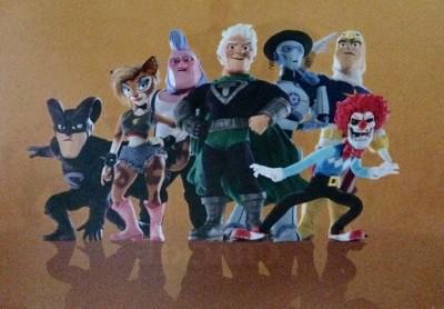 SuperMansion characters set visit 10-8-15