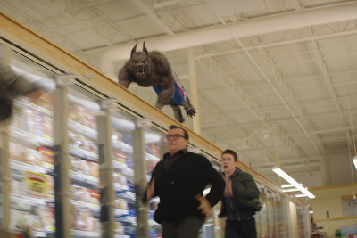 "Jack Black, left, and Dylan Minnette star in Columbia Pictures' ""Goosebumps."""