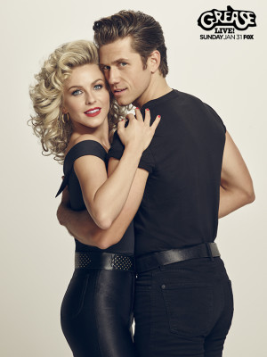 GREASE: LIVE: (L-R): Julianne Hough and Aaron Tveit in GREASE: LIVE airing LIVE Sunday, Jan. 31, 2016 (7:00-10:00 PM ET live/PT tape-delayed) on FOX. Cr: Tommy Garcia/FOX