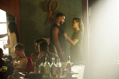 """THE MAGICIANS -- """"The Source of Magic"""" Episode 102 -- Pictured: (l-r) Arjun Gupta as Penny, Jade Tailor as Kady -- (Photo by: Carole Segal/Syfy)"""