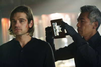 """THE MAGICIANS -- """"The Source of Magic"""" Episode 102 -- Pictured: (l-r) Jason Ralph as Quentin, Hiro Kanagawa as Professor March -- (Photo by: Carole Segal/Syfy)"""
