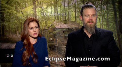 Outsiders Cast 2 Gillian Axley and Ryan Hurst