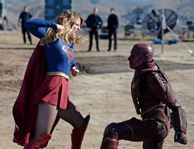 Supergirl vs. Red Tornado