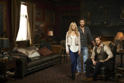 BITTEN -- Season:1 -- Pictured: (l-r) Laura Vandervoort as Elena Michaels, Greyston Holt as Clayton Danvers, Greg Bryk as Jeremy Danvers -- (Photo by: Matt Barnes/Syfy)