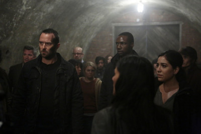 "BLINDSPOT -- ""Cease Forcing Enemy"" Episode 111 -- Pictured: (l-r) Sullivan Stapleton as Kurt Weller, Rob Brown as Reade, Audrey Esparza as Zapata -- (Photo by: Giovanni Rufino/NBC)"