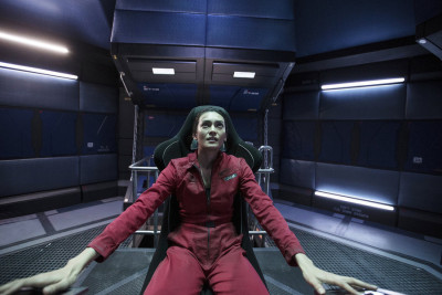 """THE EXPANSE -- """"Critical Mass"""" Episode 109 -- Pictured: Florence Faivre as Juliette Andromeda Mao -- (Photo by: Rafy/Syfy)"""