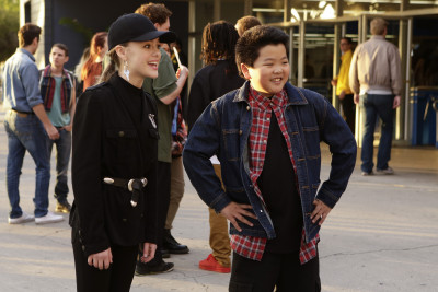 """FRESH OFF THE BOAT - """"Love and Loopholes"""" - Honey and Marvin babysit the boys so Jessica and Louis can enjoy a Valentine's Day evening out.  But Emery makes an alarming discovery when he walks in on his parents' special alone time.  Meanwhile, Eddie pulls out all the stops to take Alison to the Janet Jackson concert on ABC's """"Fresh Off the Boat,"""" airing on TUESDAY, FEBRUARY 9 (8:00-8:30 p.m. EST). (ABC/Nicole Wilder) ISABELLA ALEXANDER, HUDSON YANG"""