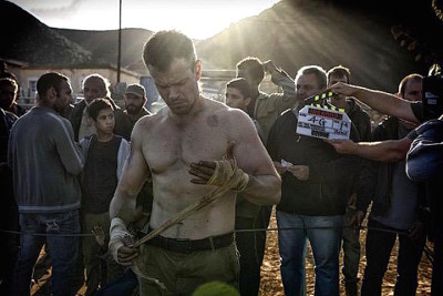 bourne on set