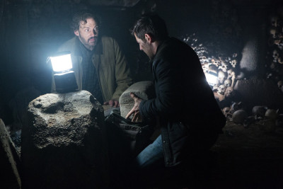 "GRIMM -- ""Into The Schwarzwald"" Episode 512 -- Pictured: (l-r) Silas Weir Mitchell as Monroe, David Giuntoli as Nick Burkhardt -- (Photo by: Scott Green/NBC)"