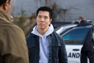 "GRIMM -- ""The Taming of the Wu"" Episode 519 -- Pictured: Reggie Lee as Sergeant Wu -- (Photo by: Scott Green/NBC)"