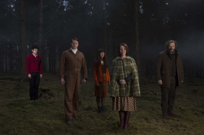 Will Sharpe, Daniel Rigby, Sophia di Martino, Olivia Colman and Julian Barratt in 'Flowers'