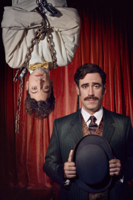 HOUDINI & DOYLE: L-R: Michael Weston as Harry Houdini and Stephen Mangan as Arthur Conan Doyle. © 2016 FOX Broadcasting Co. Cr: Joseph Scanlon / FOX.