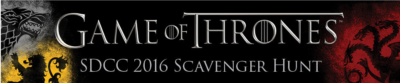 Game Of Thrones Comic-Con scavenger hunt 7-21-16