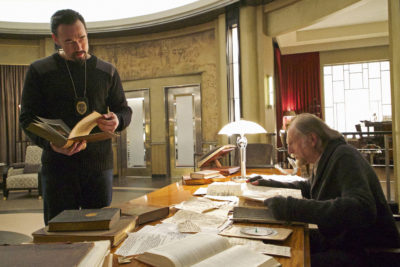 """THE STRAIN -- """"New York Strong"""" -- Episode 301(Airs Sunday, August 28, 10:00 pm e/p) Pictured: (l-r) Kevin Durand as Vasiliy Fet, David Bradley as Abraham Setrakian. CR: Michael Gibson/FX"""