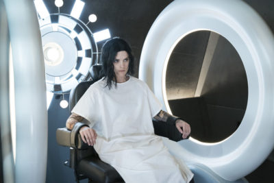 """BLINDSPOT -- """"In Night So Ransomed Rogue"""" Episode 201 -- Pictured: Jaimie Alexander as Jane Doe -- (Photo by: Virginia Sherwood/NBC)"""