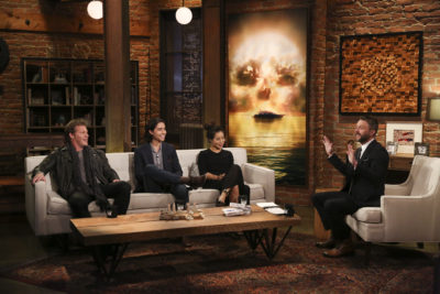 Chris Jericho, Lorenzo James Henrie, Michelle Ang, Chris Hardwick - Talking Fear - Season 2, Episode 19 - Photo Credit: Jordin Althaus/AMC