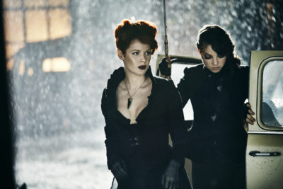 Emily Beecham as The Widow and Ruby Lou Smith as Valentine - Into the Badlands _ Season 1, Episode 1 - Photo Credit: James Dimmock/AMC