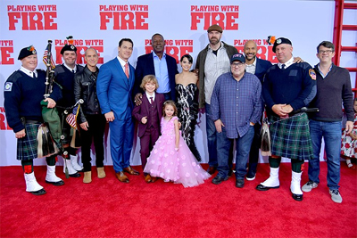 PLAYING WITH FIRE LIGHT UP  THE RED CARPET IN NYC!